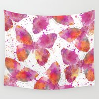 artsy Wall Tapestries featuring Artsy Butterfly by LebensART