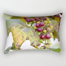 Green and purple grapes on the vine Rectangular Pillow