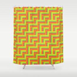 Straight Herringbone - Juicy Fruit Shower Curtain