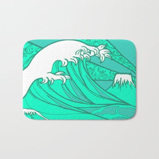 FRESH WAVE AND MOUNTAIN Bath Mat