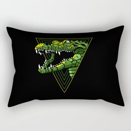 Cyber Crocodile Punk Rectangular Pillow