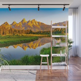 Grand Teton National Park Mountains Wyoming Nature Landscape Photography Print Wall Mural