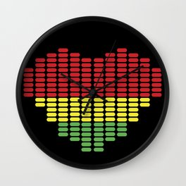 Digital Heart meter Wall Clock