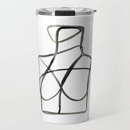 The Woman II Line Artwork Travel Mug