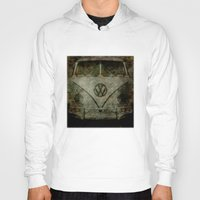 vw bus Hoodies featuring VW Zombiemobile - A killer Zombie bus by BruceStanfieldArtist.DarkSide