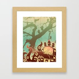 Scary Tree Framed Art Print