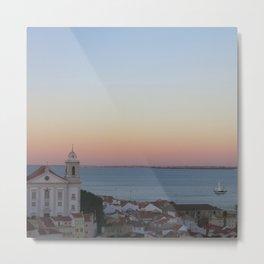 Lisbon Sunset Metal Print