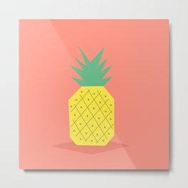 Hi Pineapple! Metal Print