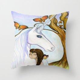 Everyone needs a unicorn Throw Pillow