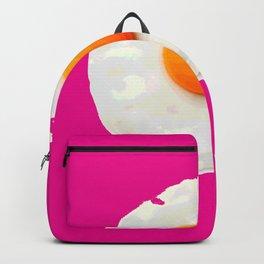 Sunny Side Up Egg on Hot Pink Backpack