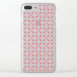 Minimalist Windmill Pattern Brush Graphic Artwork Tangerine Tango Love Clear iPhone Case