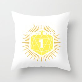 Fantasy Tabletop Dungeons Print RPG D20 Every Good Story Tee Throw Pillow