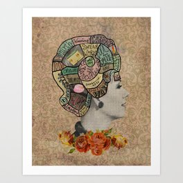 Feminine Phrenology Art Print