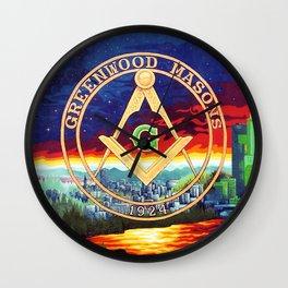 Greenwood Masonic Mural, Seattle Wall Clock