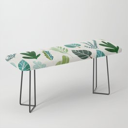 Forest Leaf Collage Bench