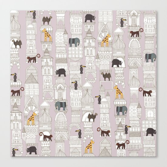 urban jungle blush pink Canvas Print
