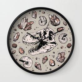Geo-rex Vortex   Rose Quartz Wall Clock