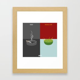 Braquo VS Plus Belle La Vie (Paris VS Marseille) Framed Art Print