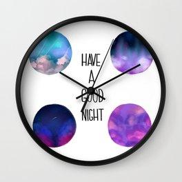 Night Skies Wall Clock