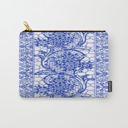 Sapphire Blue Lace Carry-All Pouch