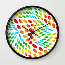 Colourful Ovals Wall Clock