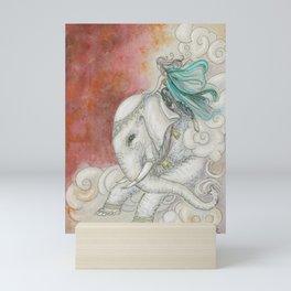Climbing Ganesha Mini Art Print