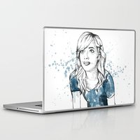 emma stone Laptop & iPad Skins featuring Emma by naidl