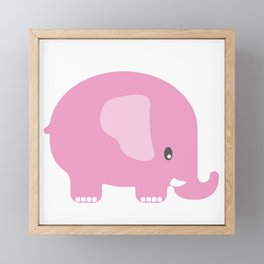 Elephant - Pink Framed Mini Art Print