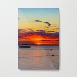 Boat Silhouette Metal Print