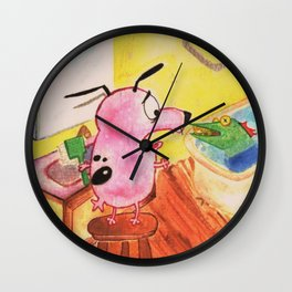 Bathroom Courage Wall Clock