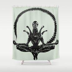 Meditation Alien Shower Curtain