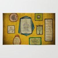 frames Area & Throw Rugs featuring Frames by Duru Eksioglu