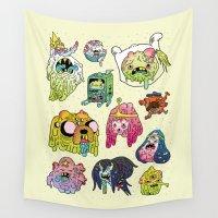 mushroom Wall Tapestries featuring After the Great Mushroom War by Josh Ln