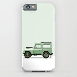 Car illustration - land rover defender iPhone Case