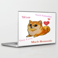 doge Laptop & iPad Skins featuring Valentines Doge by Keri Lynne