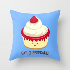 Say CheeseCake! Throw Pillow