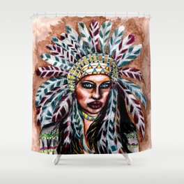 Lumbee Woman - Indian Native American Shower Curtain