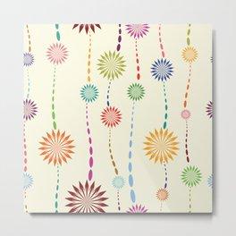 Colored floral design Metal Print
