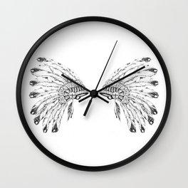 War Headdresses Wall Clock