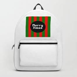merry Xmas funny logo pattern Backpack