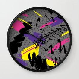 Fashion Patterns Retro Sweat Wall Clock