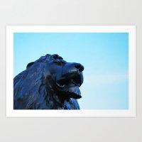 Landseer Lions Art Print