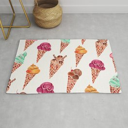 Ice Cream Cones – Rainbow Palette Rug