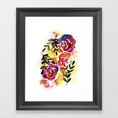 Violet Roses Framed Art Print
