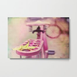 I Rode My Bicycle Past Your Window Last Night Metal Print