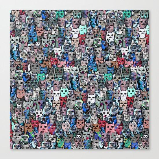 Gemstone Cats RGB Canvas Print