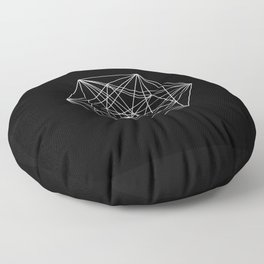 Intricate - Black And White Geometric, Conceptual Abstract Floor Pillow