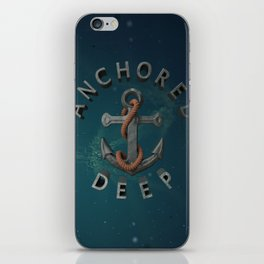 Anchored Deep 2 iPhone Skin