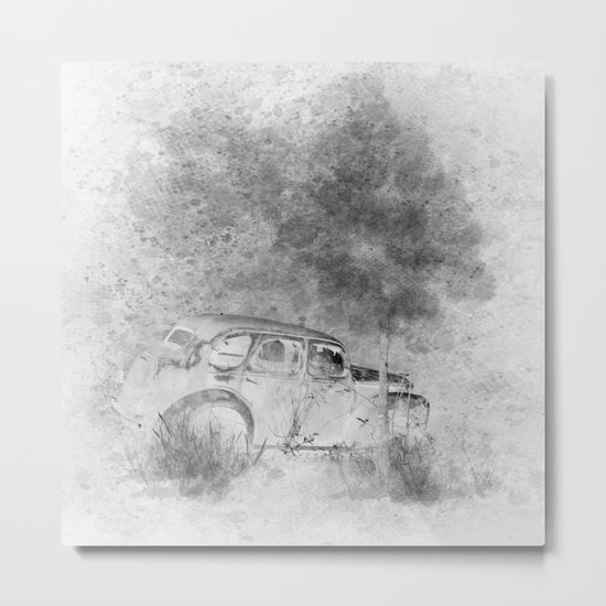 Parked and forgotten Metal Print