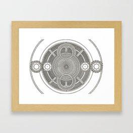 Mandal Jewel Framed Art Print